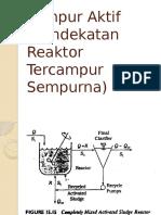 2.Reaktor Tercampur Sempurna