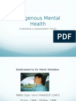 Australian Indigenous Mental Health Screening & Assessment Tools