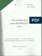1500 de Grile Utile Pentru Rezidentiat 2016 - Iasi