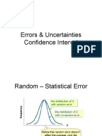 Errors Uncertainties