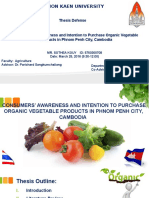 Thesis CONSUMERS' AWARENESS AND INTENTION TO PURCHASE ORGANIC VEGETABLE PRODUCTS IN PHNOM PENH CITY, CAMBODIA
