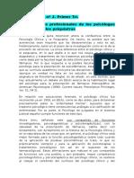 Las funciones profesionales de los psicólogos clínicos y de los psiquiatras.docx