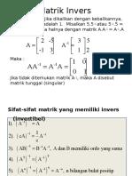 Matrik Invers