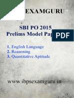 SBI PO Preliminary Model Paper 11