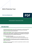 Bcg Potential Test