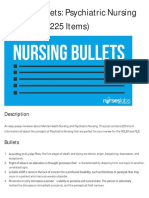 Nursing Bullets - Psychiatric Nursing