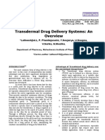 Transdermal Drug Delivery Systems (an Overview)