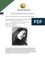 Oral Communiction Project