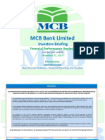 MCB Bank IR Presentation - December 2015