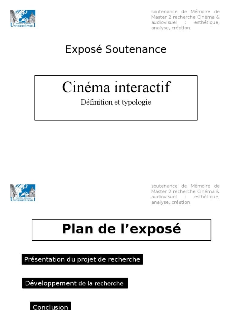 Exposé Soutenance Définition Concept