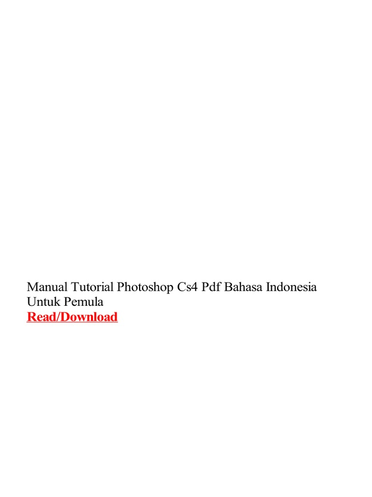 Download tutorial photoshop cs5 bahasa indonesia pdf by.