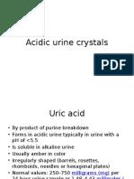 Acidic Urine Crystals