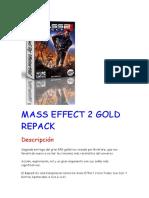 Instalacion Mass Effect 2 Gold Repack