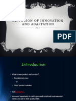 Diffusion of Innovation Adn Adoption