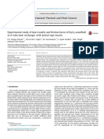 2015 Experimental Study of Heat Transfer and Friction Factor of Al2O3 Nanofluid in U Tube Heat Exchanger With Helical Tape Inserts
