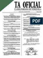 Sumario Gaceta Oficial 39.438