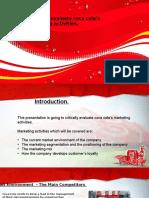 Cocacola marketing activities Presentation