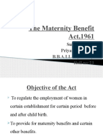 The Maternity Benefit Act,1961