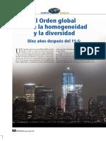 VALDES, Pedro, El Orden Global Entre La Homogeneidad y La Diversidad (Diez Años Después Del 11-S)