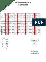 Jadwal Jaga Dokter Intersip Bulan April 2015