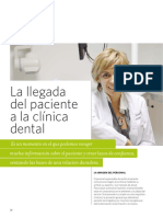 La Llegada Del Paciente a La Clinica Dental