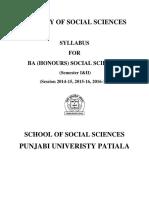 B.a. (Honours) Social Sciences Part-I(Semester I & II)