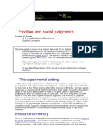 Emotion and Social Judgments