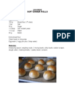 Documentation of Dinner Roll & Pandesal Activities