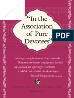 In the Association of Pure Devotees