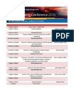 PMI Scheduling Conference Agenda