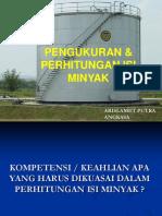 250439124 Pengukuran Perhitungan Volume Minyak Standard Di Tangki Darat