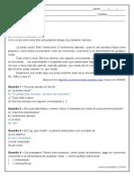 Atividade de Portugues Com Pronome Pessoal 8º Ano Respostas