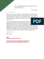 Sample of Motivation Letter-1