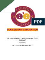 PLAN DE ÉXITO EDUCATIVO