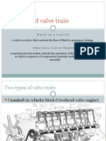 Valves and Valve Train