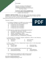 Mock Examination FinAcc