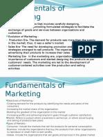 Fundamentals of Marketing MKT 301 Fall 2015