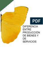 Diferencia Entre Produccion de Bienes y de Servicios
