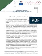 Intervention d'E. Bareigts à la Conférence des Présidents des RUP