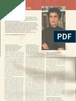 Entrevista Com Escorel - Revista Ciência Hoje - Suplemento Sobre Cultura