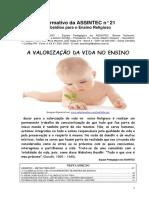 21 - A Valorização Da Vida Nas Diferentes Tradições Religiosas e Místico-filosóficas