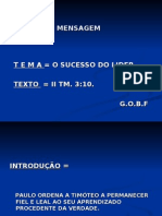O SUCESSO DO LÍDER