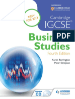 Cambridge IGCSE Business Studies 4th Edition