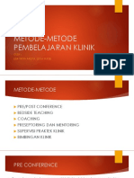 Metode Metode Pembelajaran Klinik