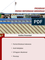 Sembilan Program Percepatan RB