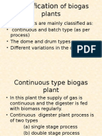 Classification of Biogas Plants