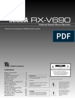 Yamaha RX-V690 for the VS73170 Remote Operation