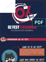 Informacion General Oz Fest Colombia