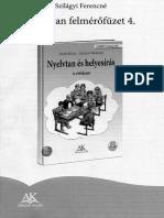 Nyelvtan felmérőfüzet 4.osztály A