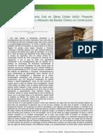 Tesis Sobre Utilización Del Bambú Chileno en Construcción